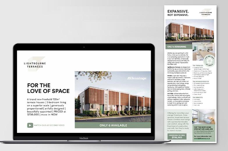 Lightbourne Terraces: landing page & press