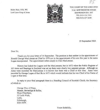 Lord Lyon letter