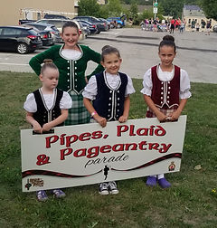 Fergus Pipes Plaid paeantry parade girls