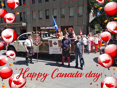 Canada day clan Logan