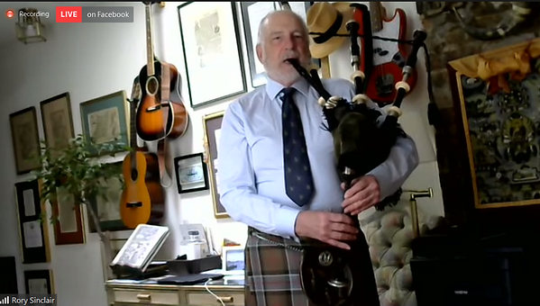 Rory Sinclair bagpipes CASSOC
