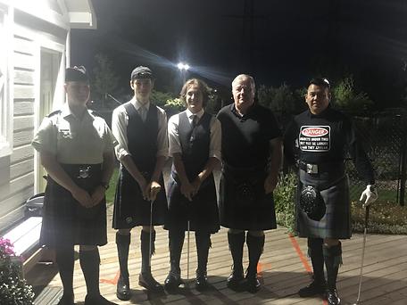 Clan Logan Caledonia pipe band