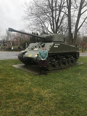 Clan Logan tank Ottawa remebrance day 2020