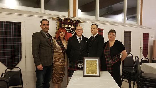 Clan Logan Society of canada group Burn's night 2020 Canada