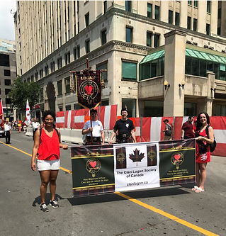 Clan Logan Canada day parade