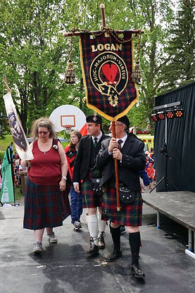 Clan Logan Clan Lindsay Flag parade