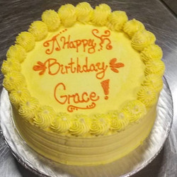 Vanilla Cake with Lemon Filling and Lemon Frosting