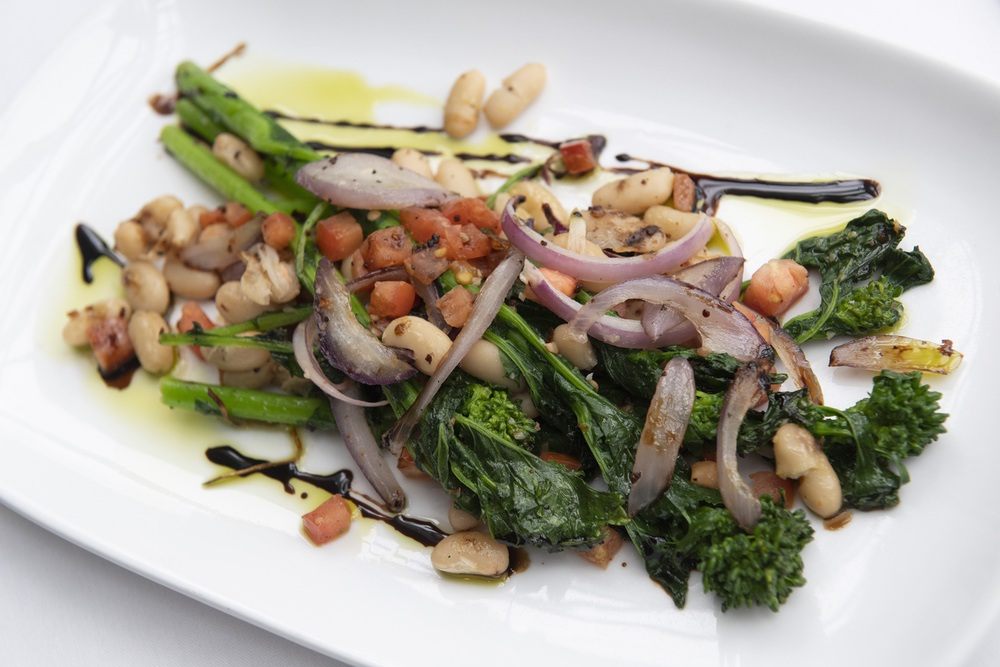 Steamed Rapini & Navy Beans