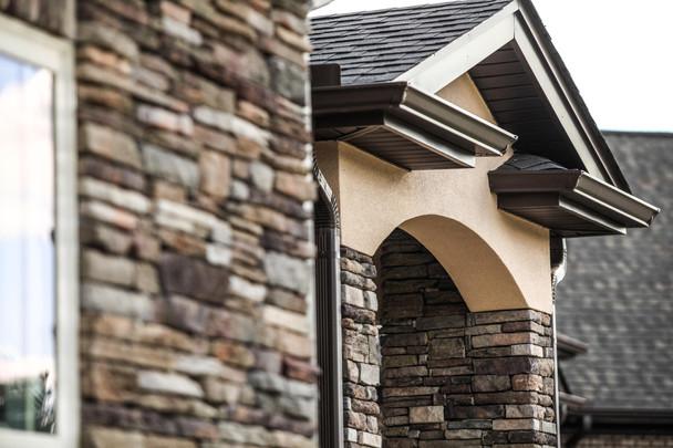 Stucco and Stone Siding