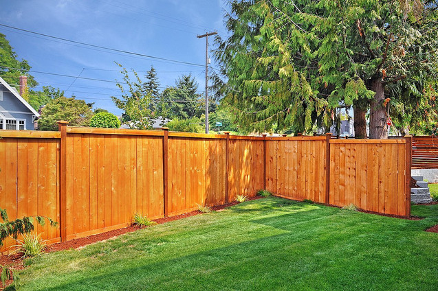 Modern Privacy Fence in Everett, WA
