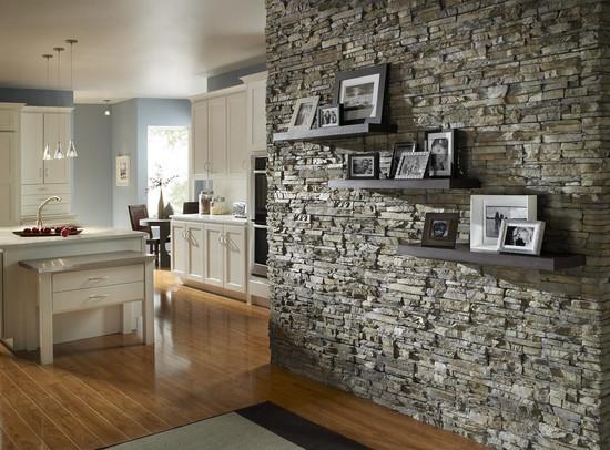 Stucco and Stone Interior Siding