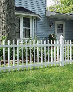 Lowes Picket Viynl Fence