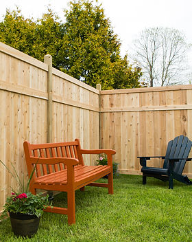 Good Neighbor Solid Top Wooden fence design