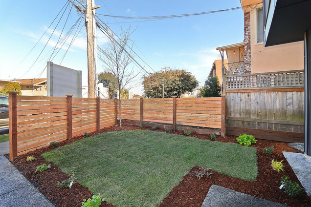 Modern Cedar Fence in Kirkland, Washington