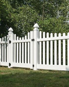 Scallop Panel Vinyl Fence in Mill Creek, WA