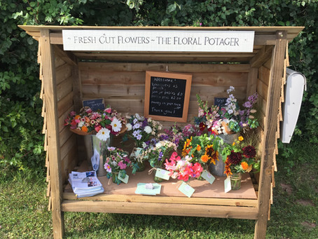 Flower stall and festival fun