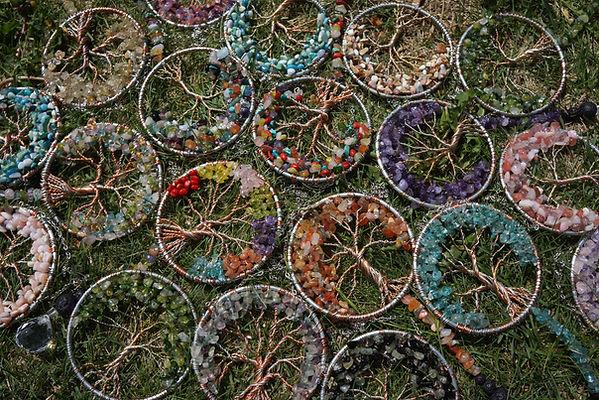 Tree of life suncatchers by Sharon Jong, Edmonton Alberta artist