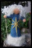 """""""Mother winter"""" all wool hand felted soft sculpture 3d needlefelted doll by Sharon Jong, artist of Edmonton, Alberta"""