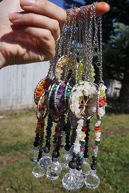 Tree of life suncatchers by Sharon Jong artist in Edmonton Alberta