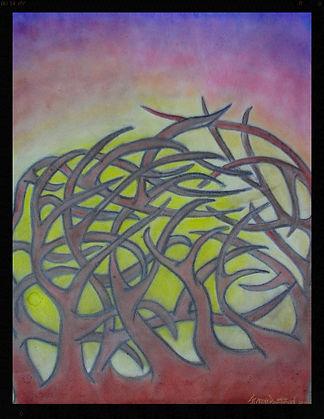 oil pastel by artist Sharon Jong of Edmonton, Alberta
