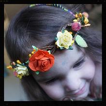 Rustic floral crowns by Sharon Jong, artist of Edmonton, Alberta