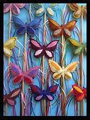 Butterfly play wands, wool felt by artist Sharon Jong of Edmonton, Alberta