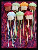Cupcake play wands, wool felt by artist Sharon Jong of Edmonton, Alberta
