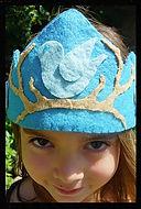 Bird wool felt crowns by artist Sharon Jong of Edmonton, Alberta