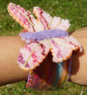 wrist cuffs sharon jong edmonton alberta artist wool