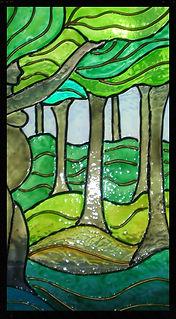 sharon jong art stained glass tree goddess