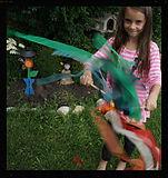 Ribbon dancing play wands by artist Sharon Jong of Edmonton, Alberta