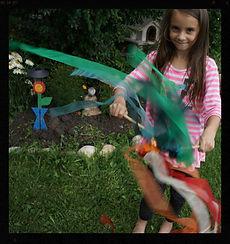 Ribbon dancing play wands