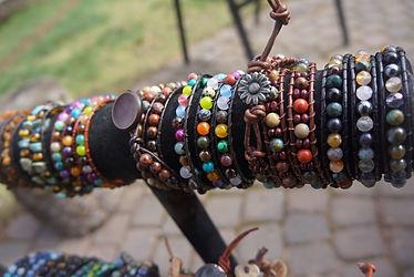 leather wrap bracelet sharn jong edmnton artist