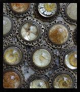 dandelion & flower necklaces by Sharon Jong, artist in Edmonton Alberta