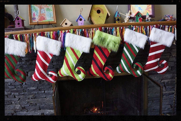 Christmas stockings, all wool