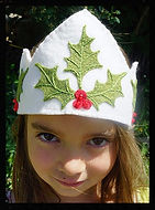 Christmas wool felt crowns by artist Sharon Jong of Edmonton, Alberta