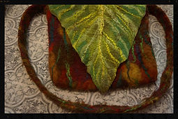 handfelted waldorf purse, all wool wet felted by Sharon Jong, artist of Edmonton, Alberta