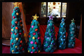 Christmas tree hand felted 3d needlefelted tree by Sharon Jong, artist of Edmonton, Alberta