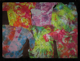 Tie dye tie dying art classes offered by Sharon Jong, artist of Edmonton, Alberta