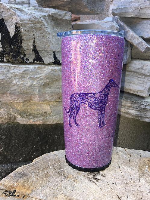 20 oz Purple Greyhound Strawbler