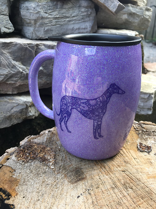 14oz Purple Coffee Tumbler