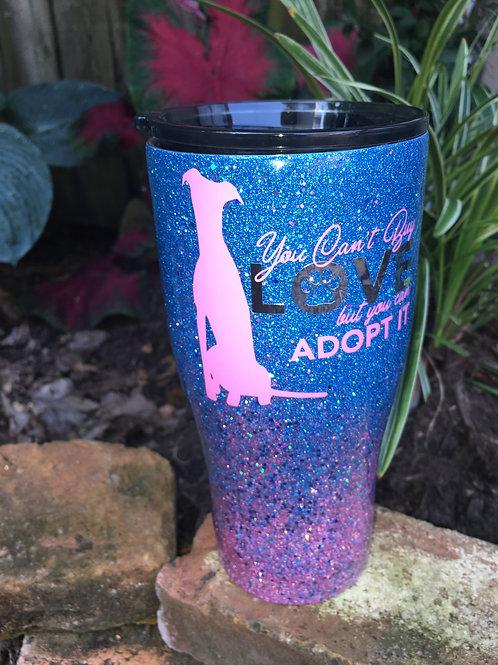 Blue/Pink 30oz Greyhound Tumbler