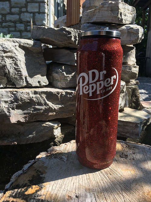 Dr. Pepper Soda Can Tumbler