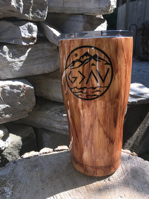20ozGod is Greater than the highs and lows Tumbler