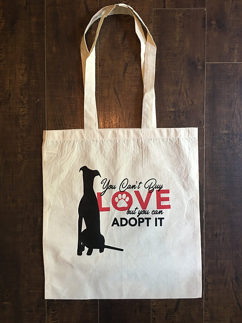 "15""x16"" Greyhound Tote Bag"