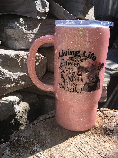 16oz Pink Cow Tumbler