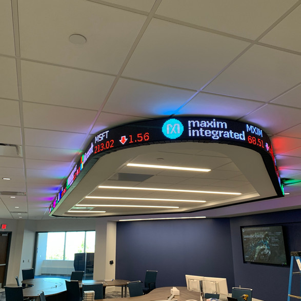 Curved Stock Ticker