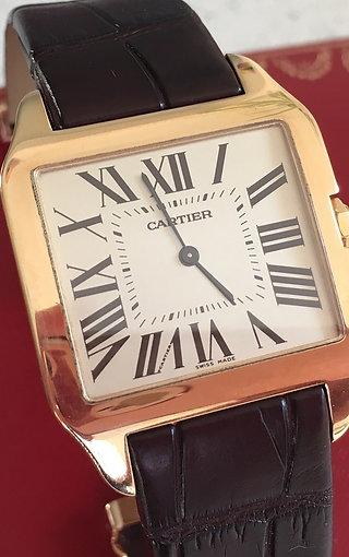 Cartier Santos Dumont 18ct