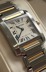 Cartier Tank Francaise steel & gold.