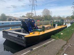 Powered Wide Beam Crane Boat